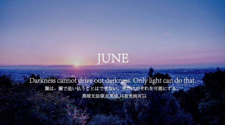 闇は闇で追い払うことはできない...